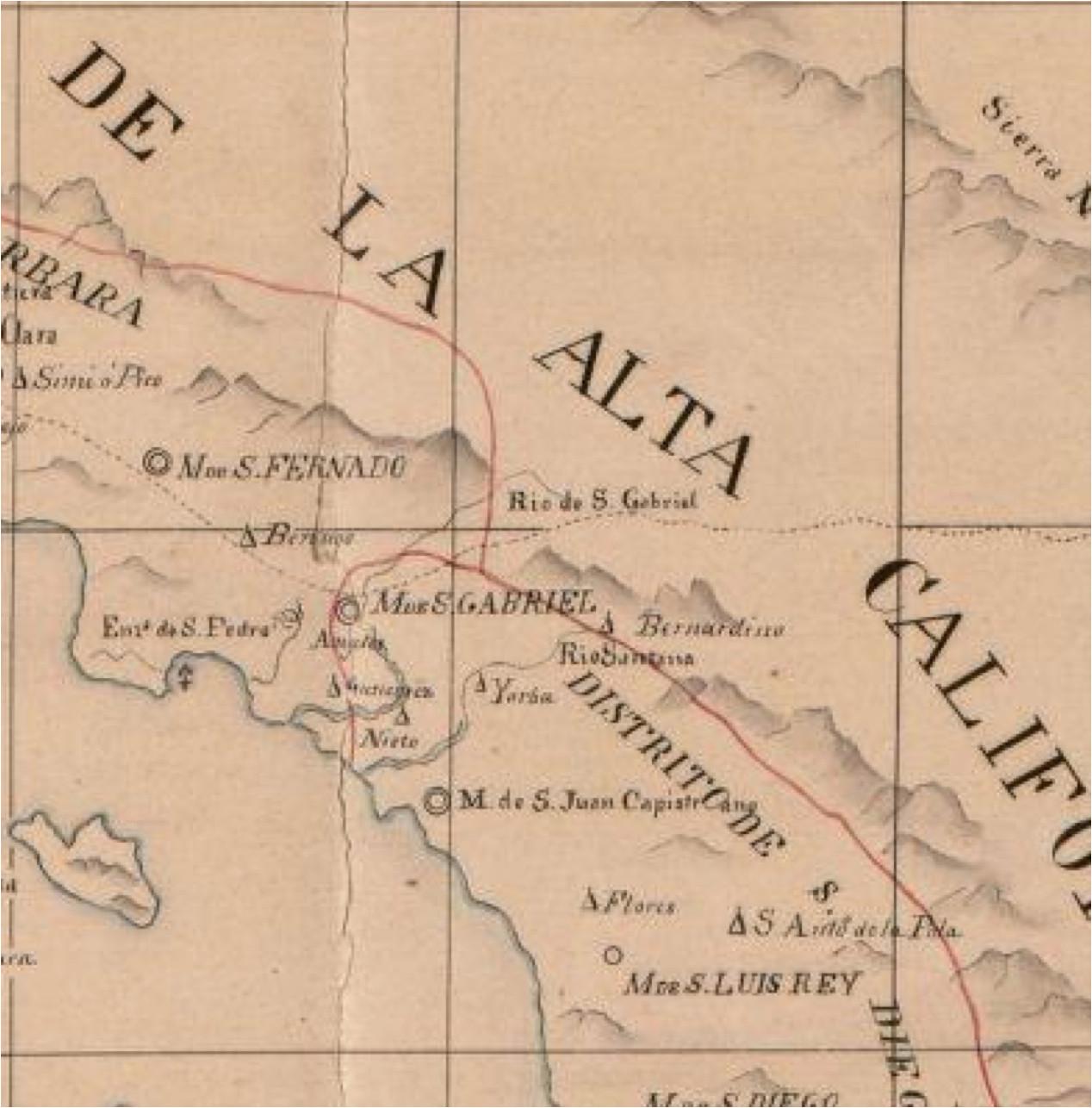 Alta California Map Alta California Map
