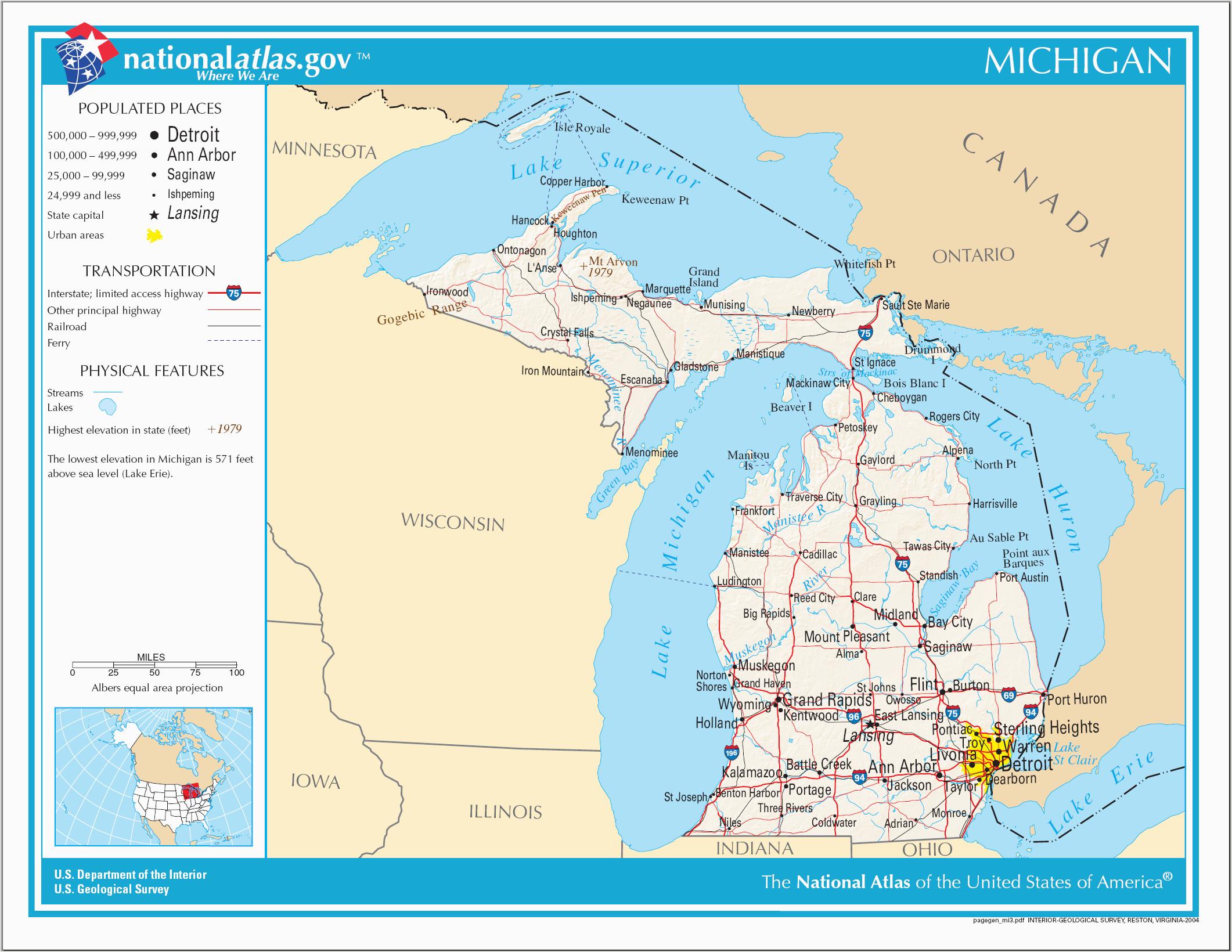 Atlas Map Of Michigan Datei Map Of Michigan Na Png Wikipedia