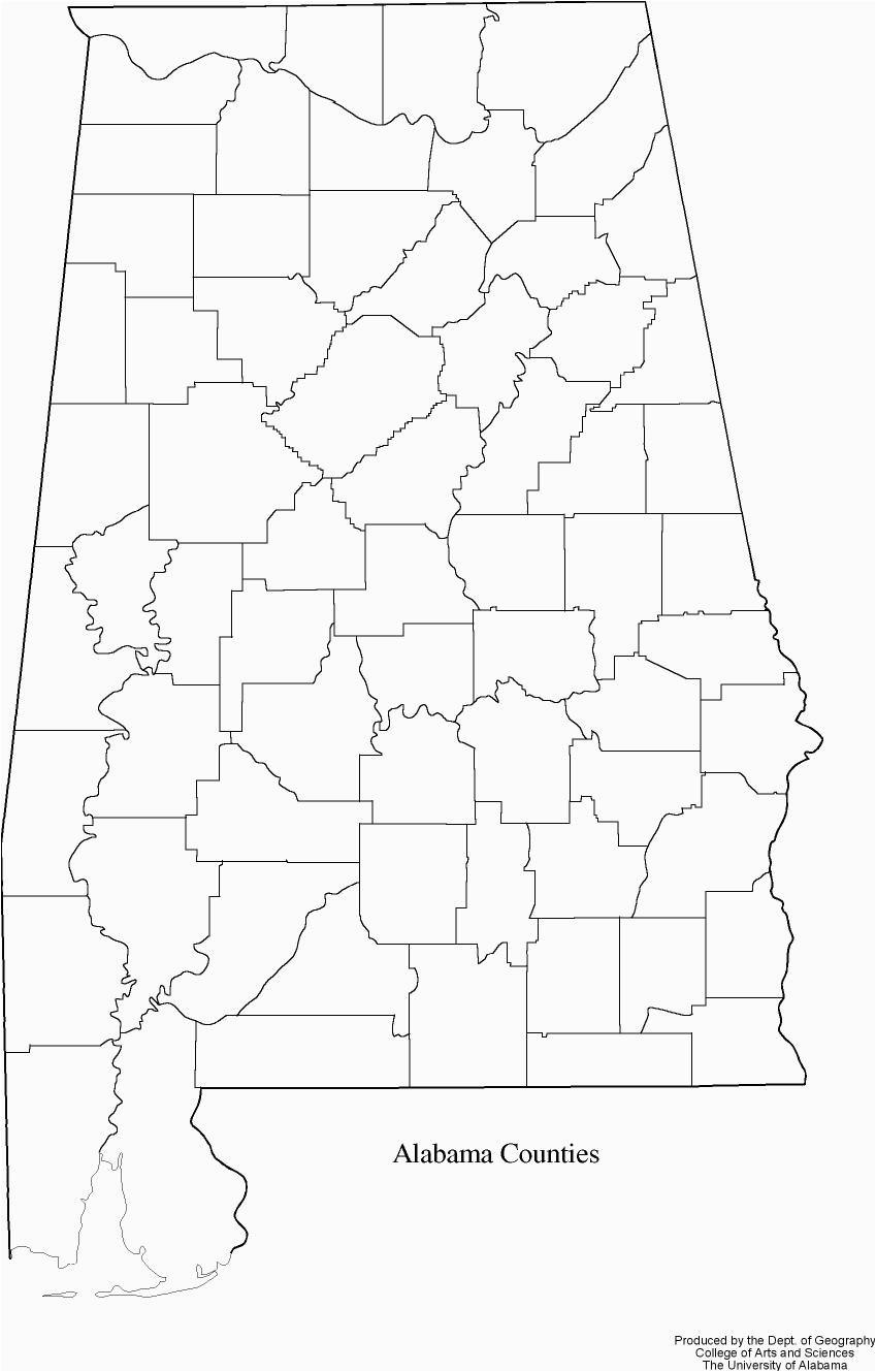 Blank Map Of Alabama Alabama Outline Maps and Map Links