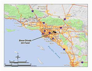 Brea California Map Brea Olinda Oil Field Wikipedia