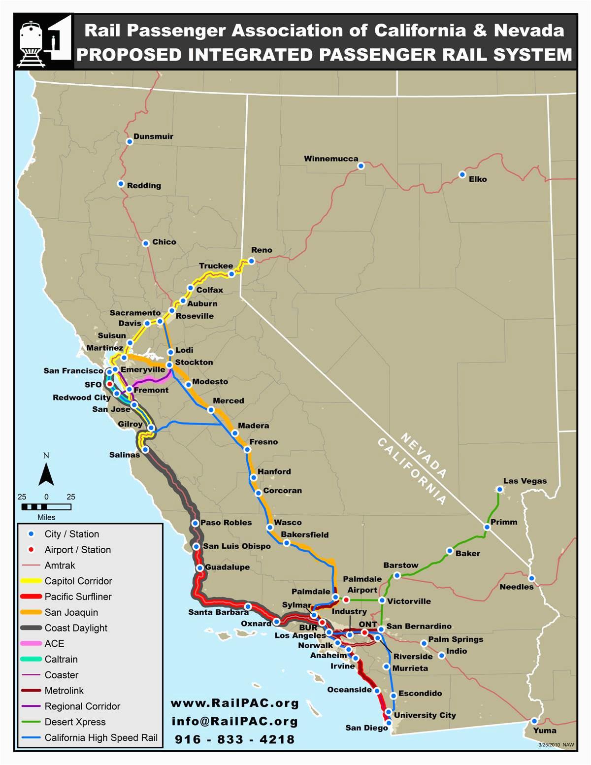 California Amtrak Stations Map California Amtrak Route Map Www Bilderbeste Com
