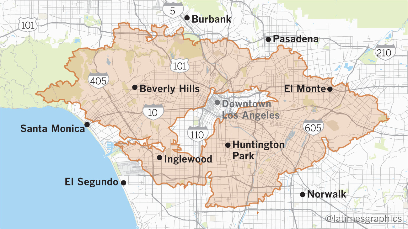California Fire History Map Maps Show Thomas Fire is Larger Than Many U S Cities Los Angeles