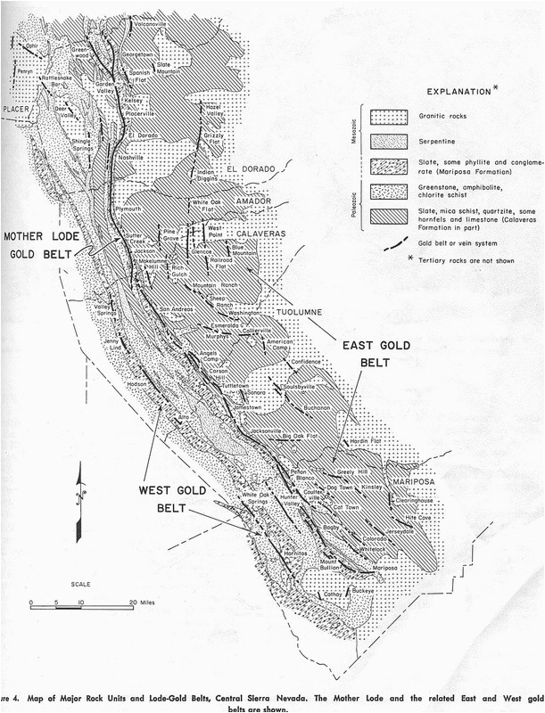 California Mother Lode Map Structural Geology Of Strike Slip