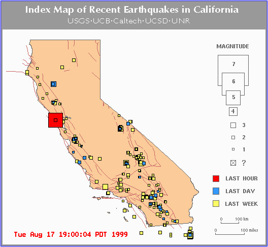 California Seismic Activity Map Usgs Earthquake Map California Inspirational Canada Earthquake Map S