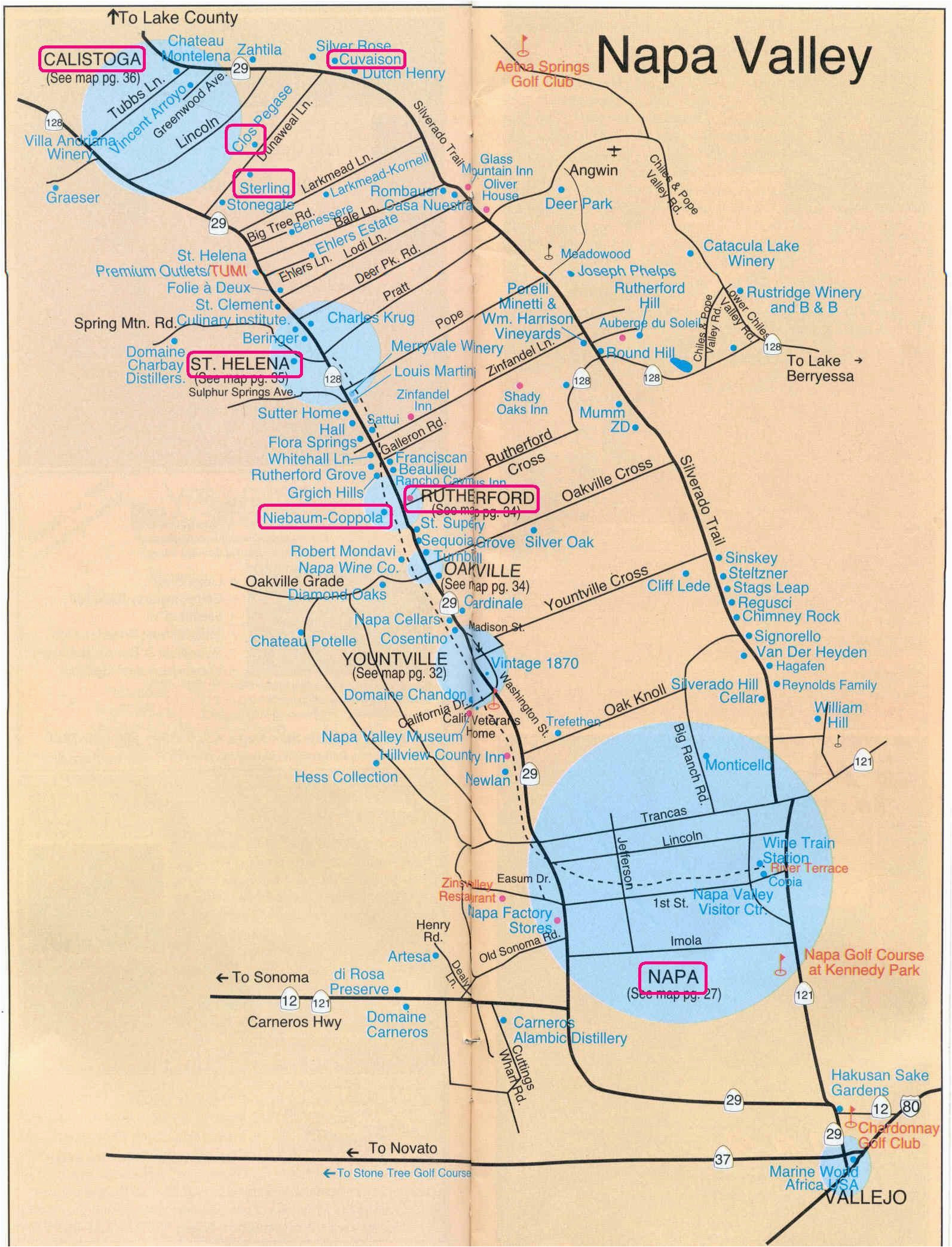 Calistoga California Map Pictures Of California Map Detailed Printable Napa Wine Map