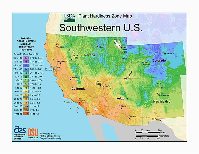 Colorado Climate Zone Map Plant Hardiness Zone Map Provided by Usda Image