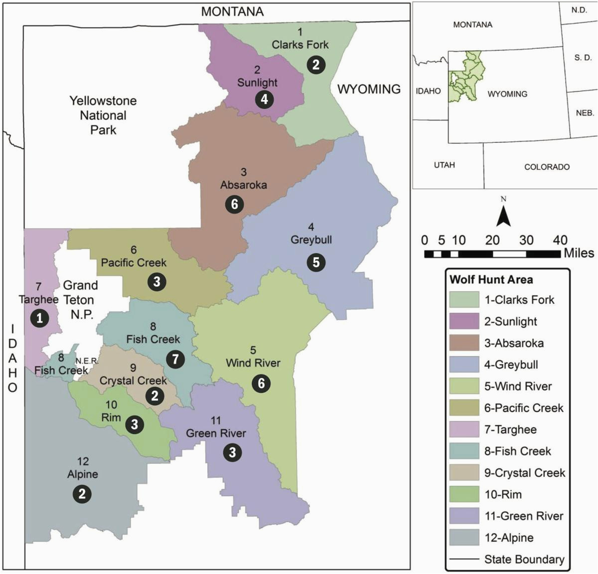 Colorado Elk Population Density Map Wyoming Sets Wolf Population Goal Of 160 Environmental
