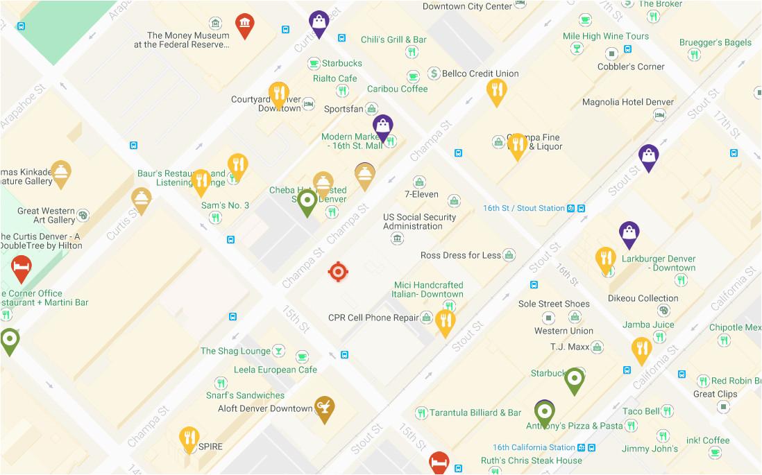 Colorado Indian Reservations Map Denver Maps Visit Denver
