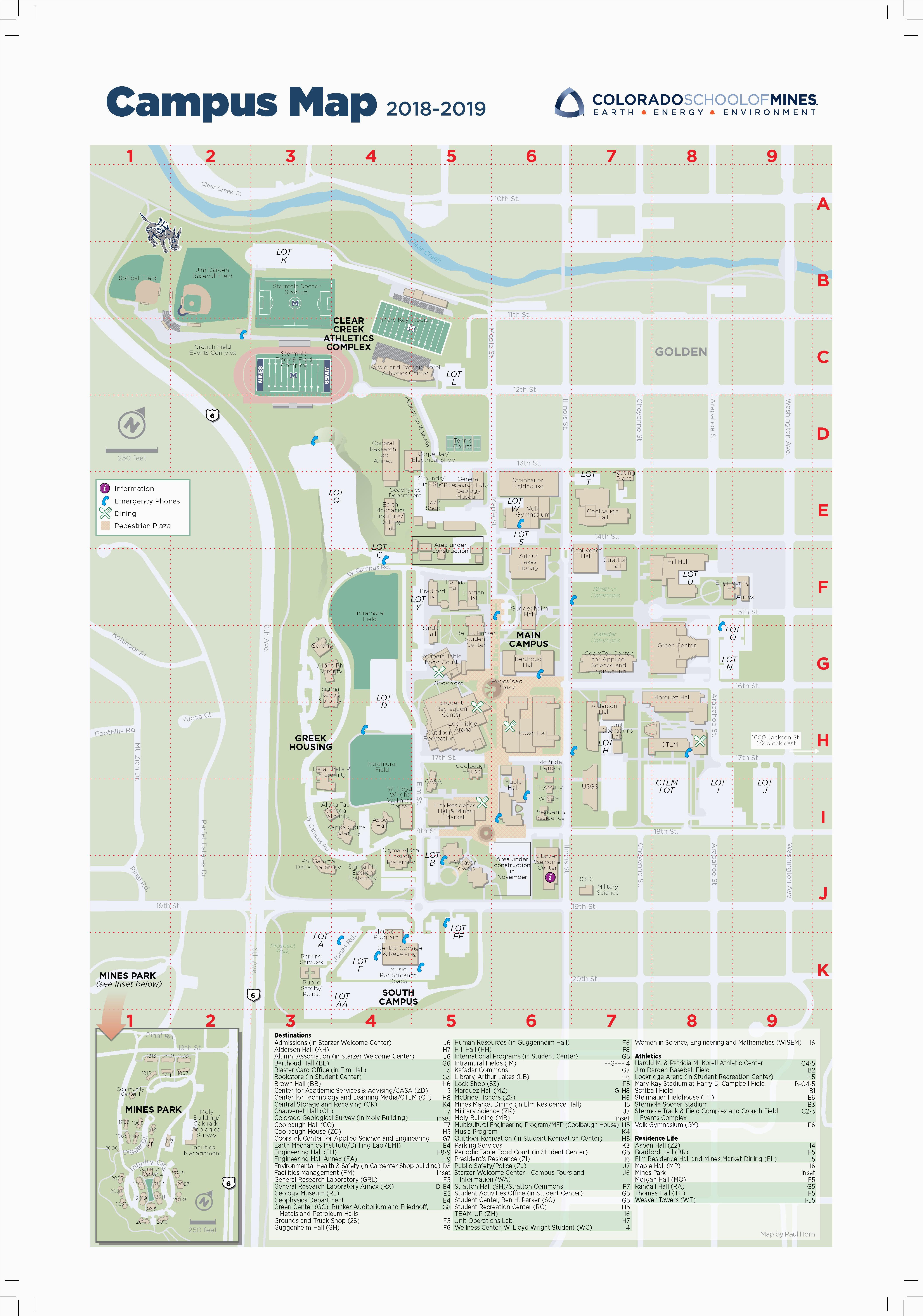 Colorado School Of Mines Map Visit Mines Campus tour