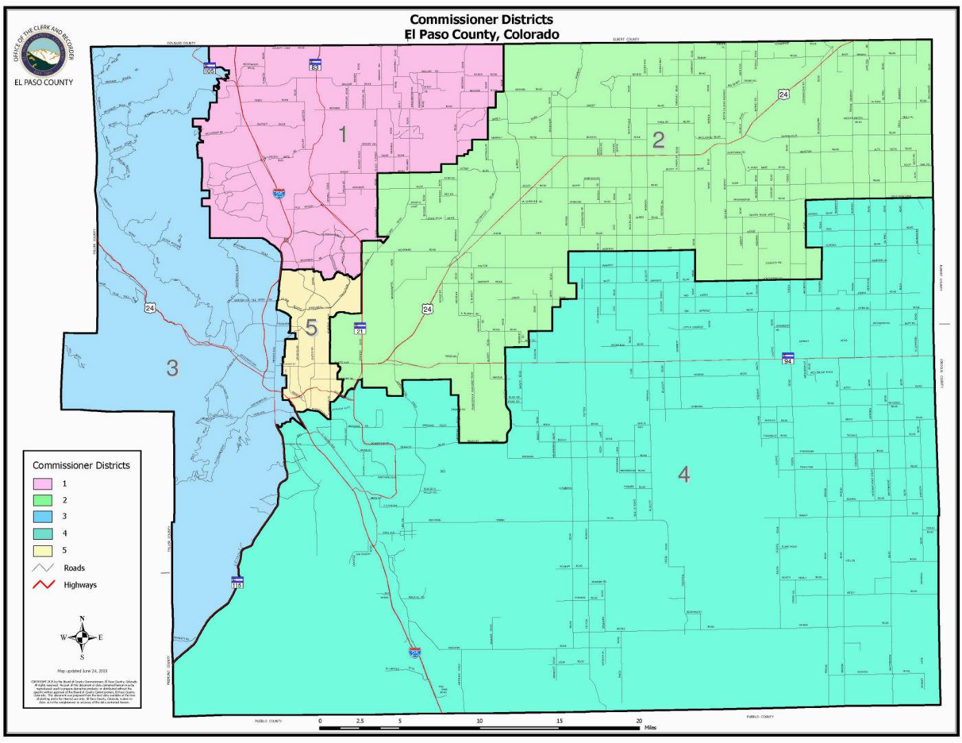Colorado Springs area Code Map Board Of County Commissioners El Paso County Board Of County