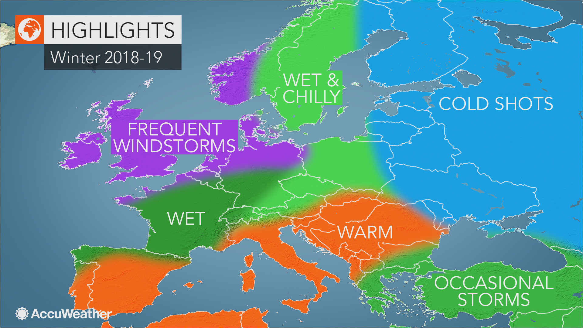 Colorado Springs Weather Map Accuweather S Europe Winter forecast for the 2018 2019 Season