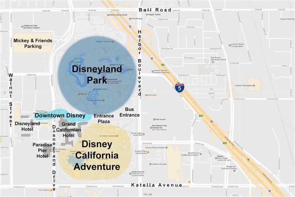 Disney Land California Map Maps Of the Disneyland Resort