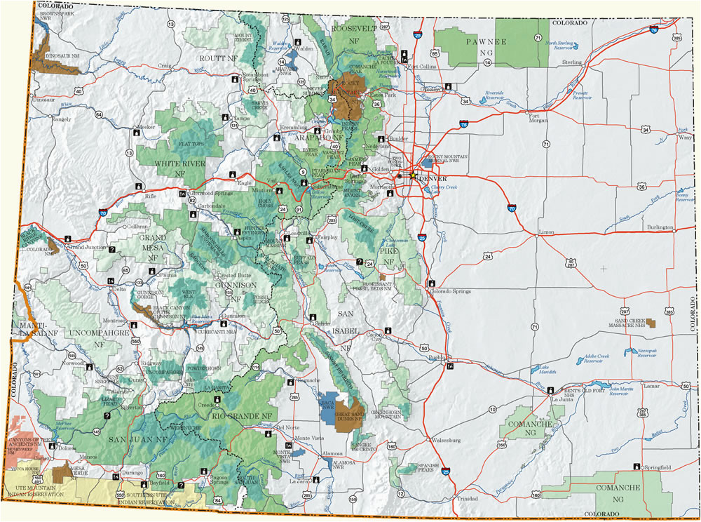 Dispersed Camping Colorado Map Colorado Dispersed Camping Information Map