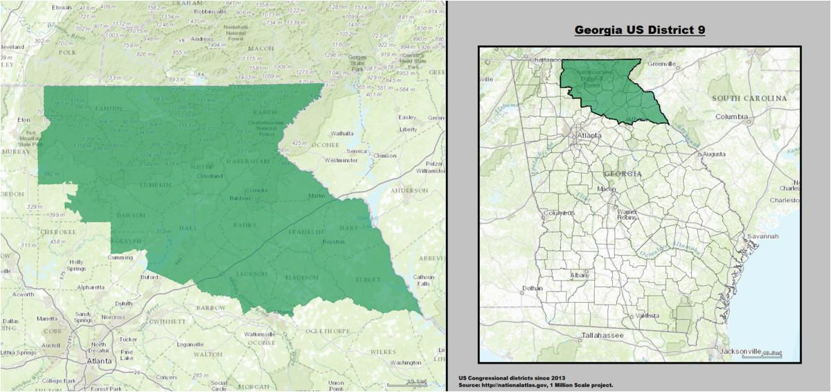Forsyth Georgia Map Georgia S 9th Congressional District Wikipedia