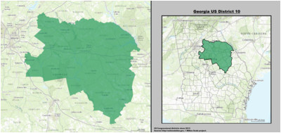 Georgia 11th Congressional District Map Georgia S Congressional Districts Wikipedia