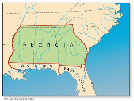 Georgia Colony Map History Of Georgia American En En A N History History Of