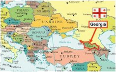 Georgia In Europe Map 51 Best Maps Of Georgia Country Images On Pinterest Georgia
