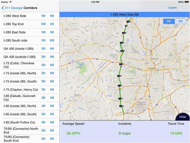 Georgia Navigator Traffic Map atlanta 511 Georgia atlanta Traffic On the App Store