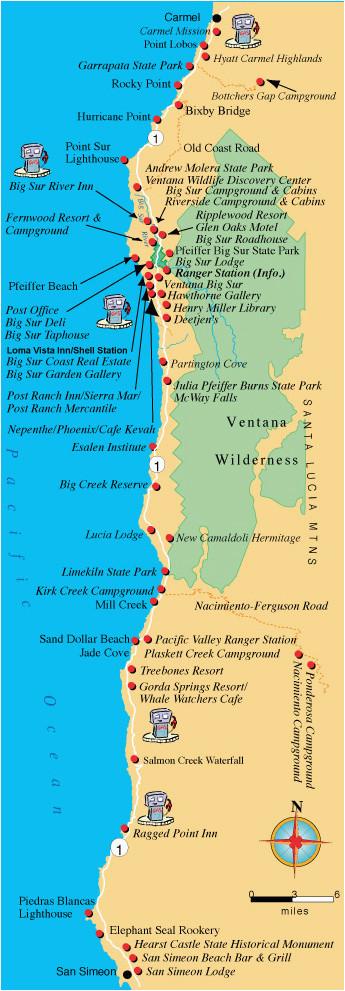 Hyatt California Map Maps Directions and Transportation to Big Sur California