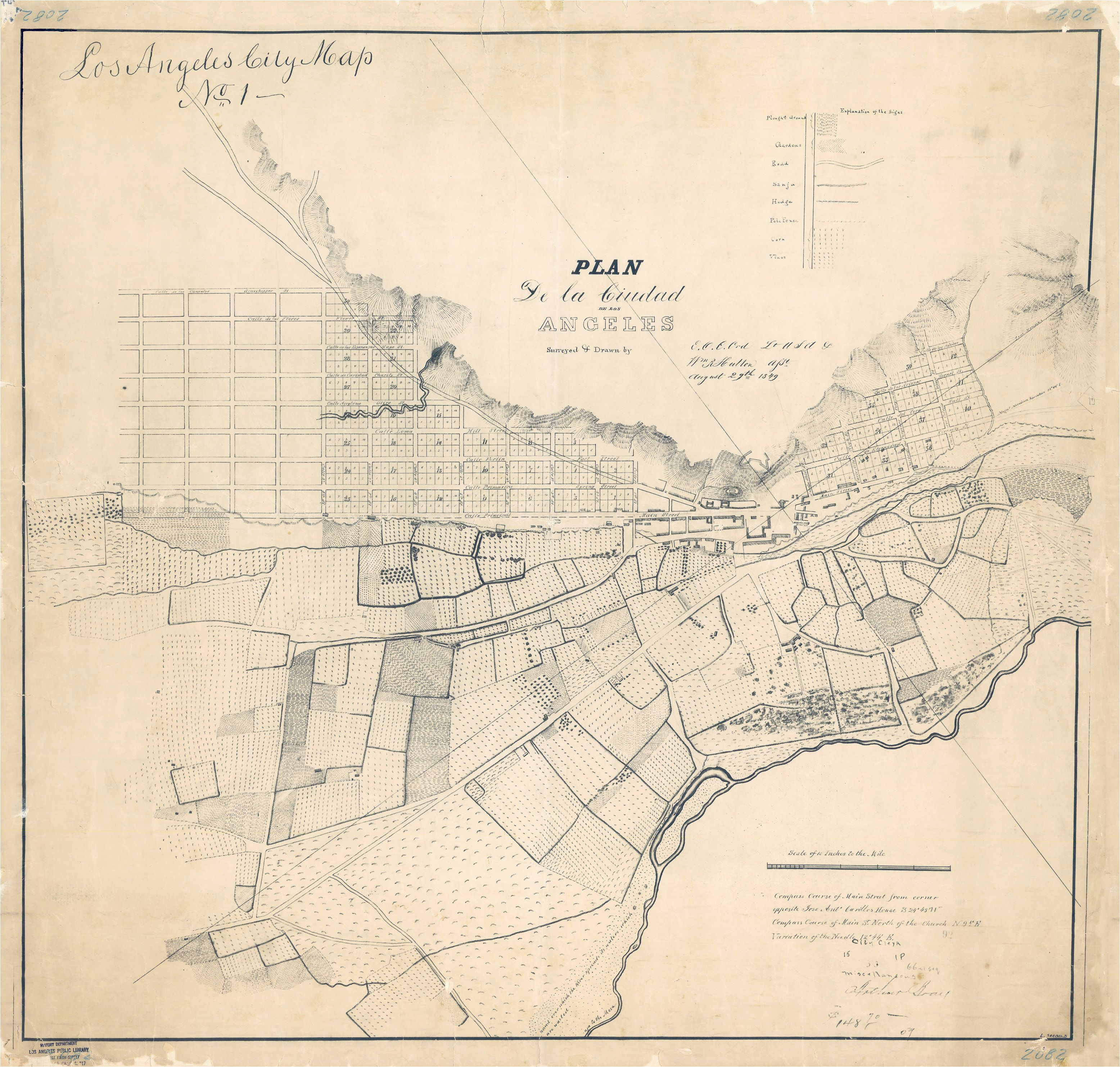 La In California Map the First Map Of Los Angeles May Be Older Than You Think bygone