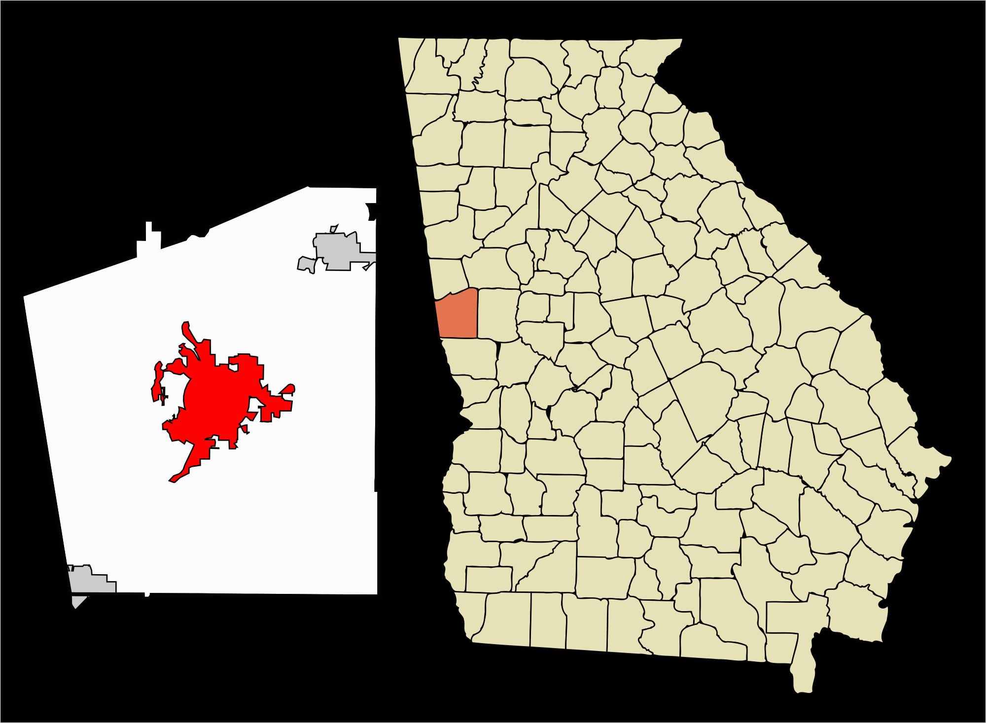 Lagrange Georgia Map Lagrange Georgia Map