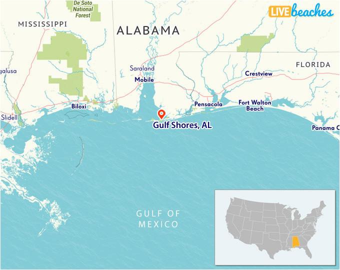 Map Of Alabama Beaches Map Of Gulf Shores Alabama Live Beaches