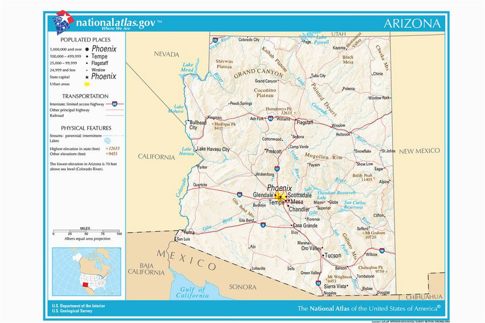 Map Of Arizona Mexico Border Maps Of the southwestern Us for Trip Planning