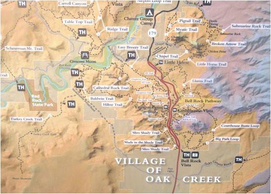 Map Of Arizona Sedona Sr 179 Highlight Map Red Rock Scenic Highway Sedona Az Picture