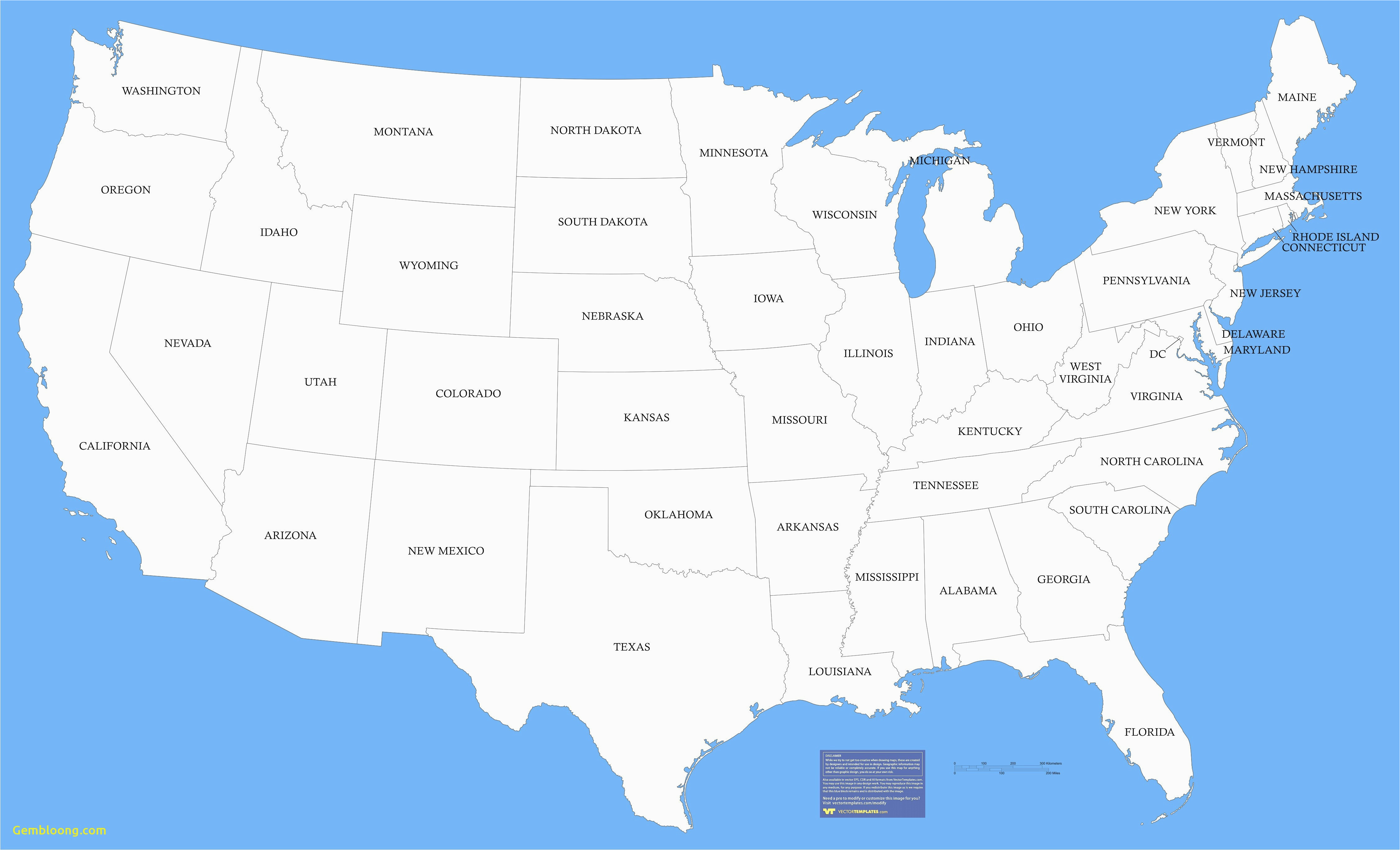 Map Of California and Its Cities United States Political Map with Major Cities New Map Us States
