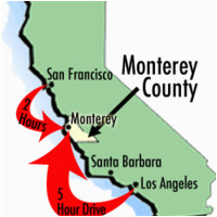 Map Of California Monterey Bay Maps Of Monterey County Travel Information and attractions