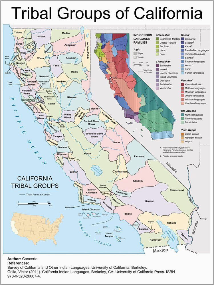 Map Of California Tribes A Definitive Map On the Location and Language Groups Of the First