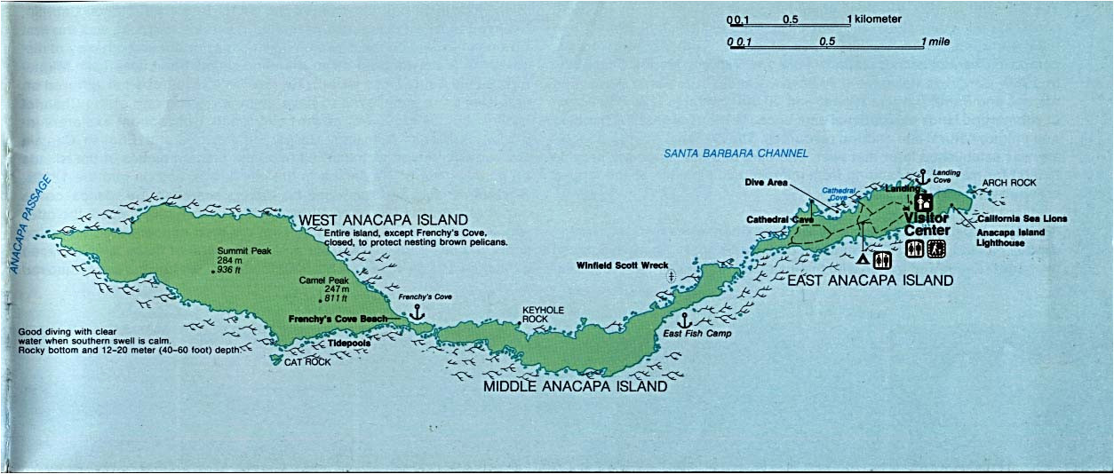 Map Of Channel islands California United States National Parks and Monuments Maps Perry Castaa Eda