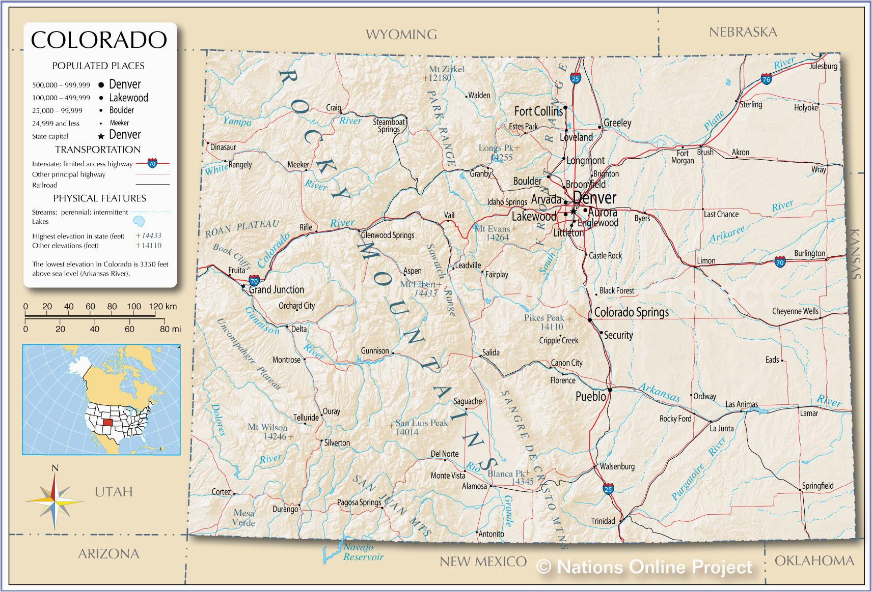 Map Of Colorado Mountain Peaks Colorado Mountains Map Luxury United States Map Colorado Fresh