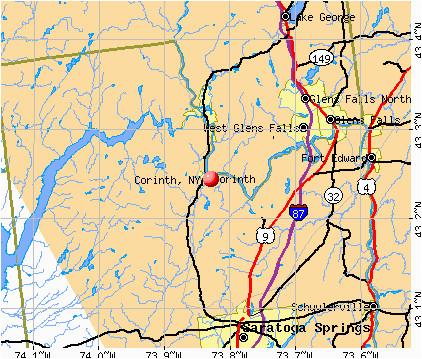 Map Of Florida & Georgia Corinth New York Ny 12822 Profile Population Maps Real Estate