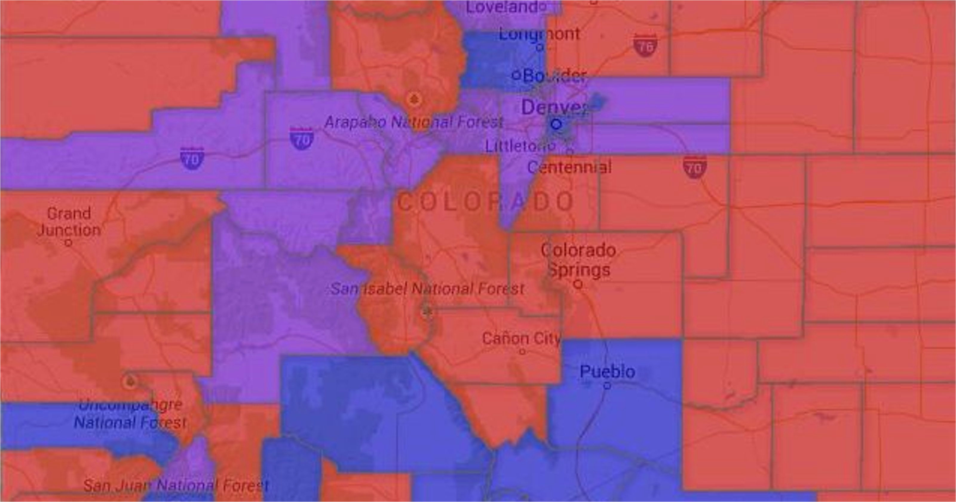 Map Of fort Morgan Colorado Map Colorado Voter Party Affiliation by County