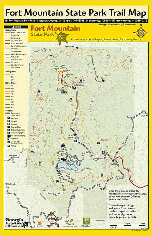 Map Of Lagrange Georgia Trails at fort Mountain Georgia State Parks Georgia On My Mind