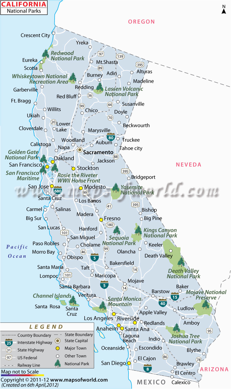 Map Of National Parks In California California National Parks Map List Of National Parks In California