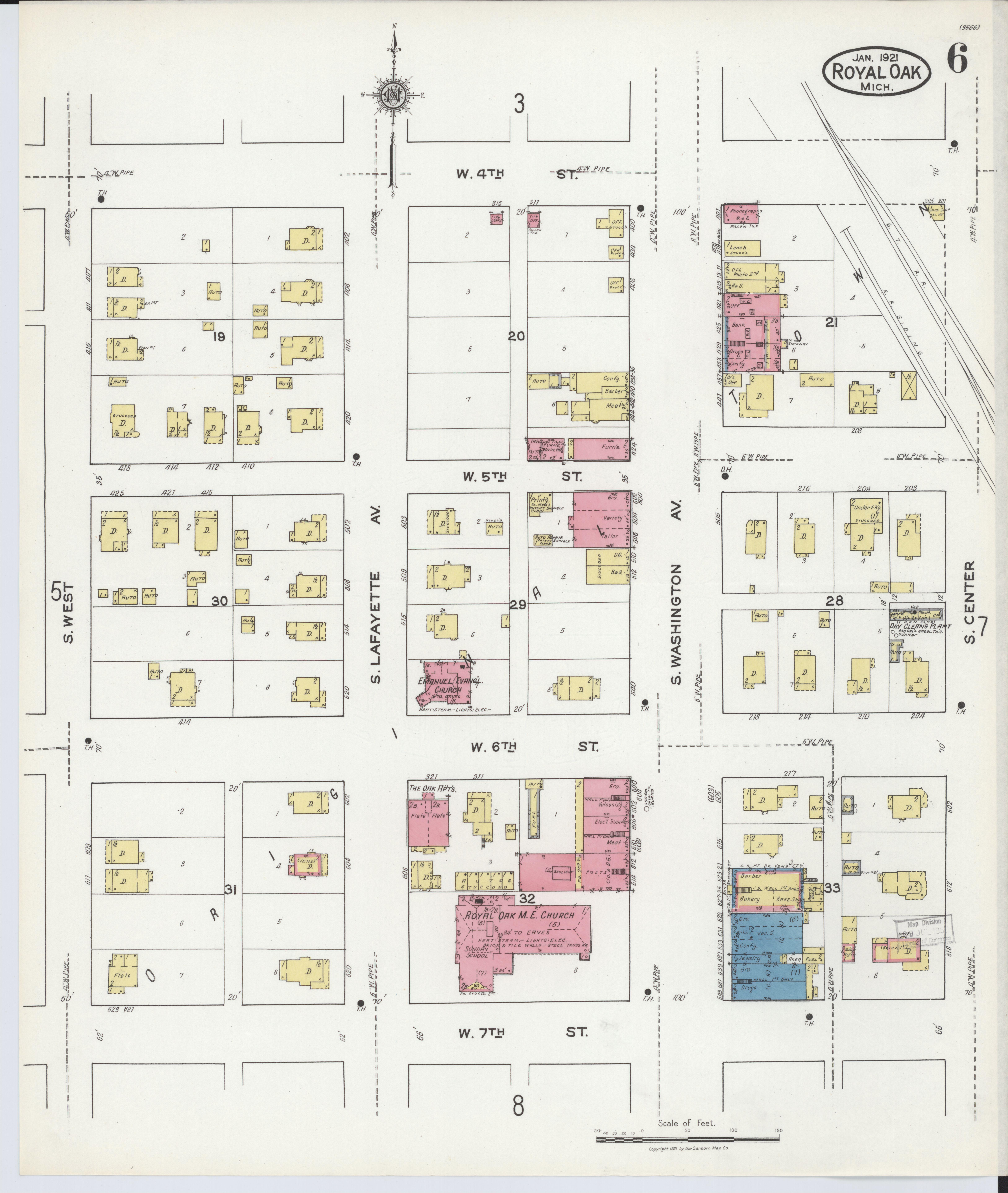 Map Of Royal Oak Michigan File Sanborn Fire Insurance Map From Royal Oak Oakland County