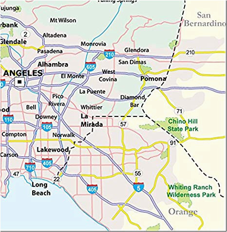 Map Of San Dimas California Amazon Com Los Angeles County Map Laminated 36 W X 37 H