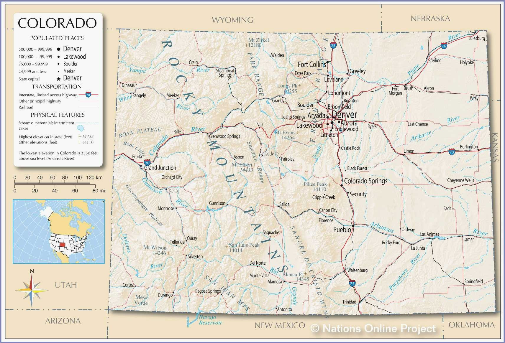 Map Of Sterling Colorado Save United States Map Showing Colorado Superdupergames Co