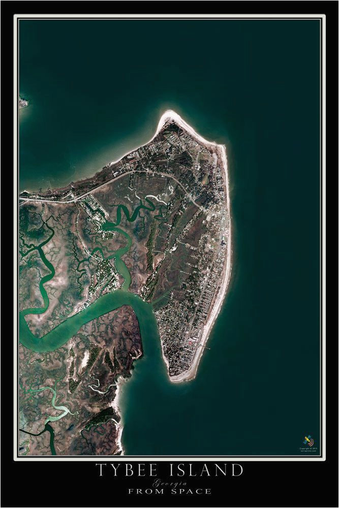 Map Tybee island Georgia Tybee island Georgia Satellite Poster Map Georgia On My Mind