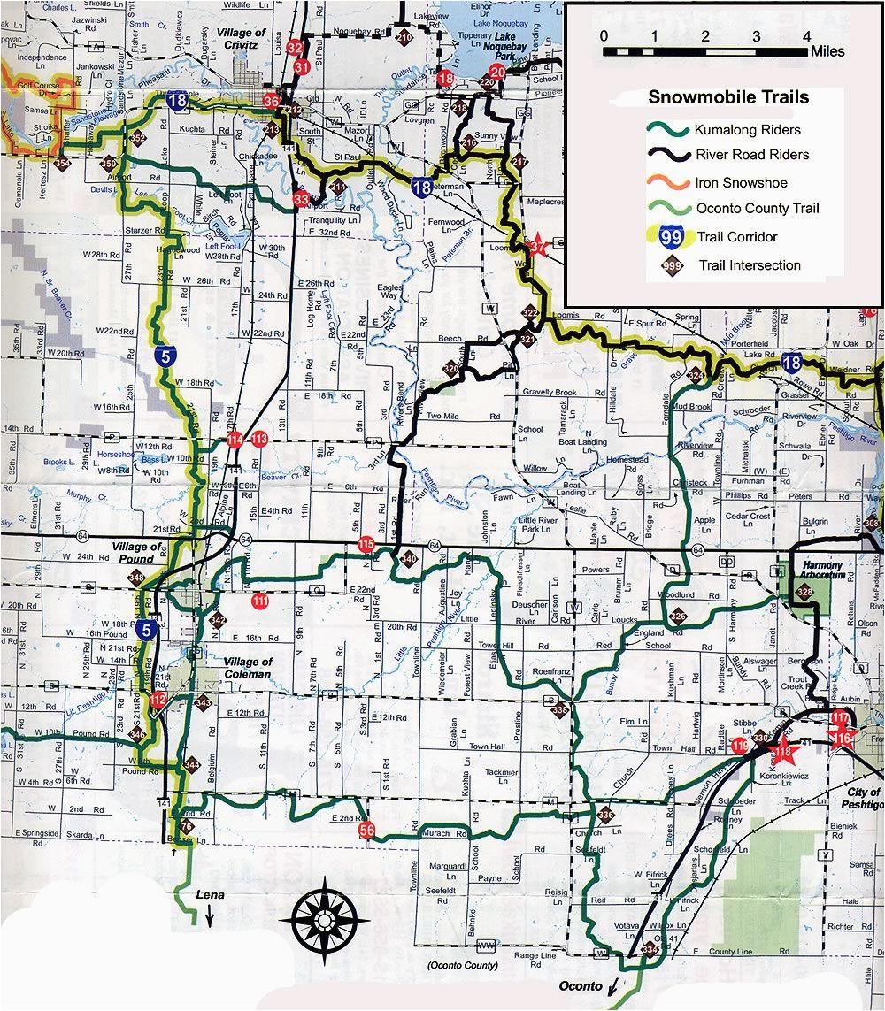 Michigan Snowmobile Trails Map Coleman Wi Snowmobile Trail Map Brap Pinterest Trail Maps