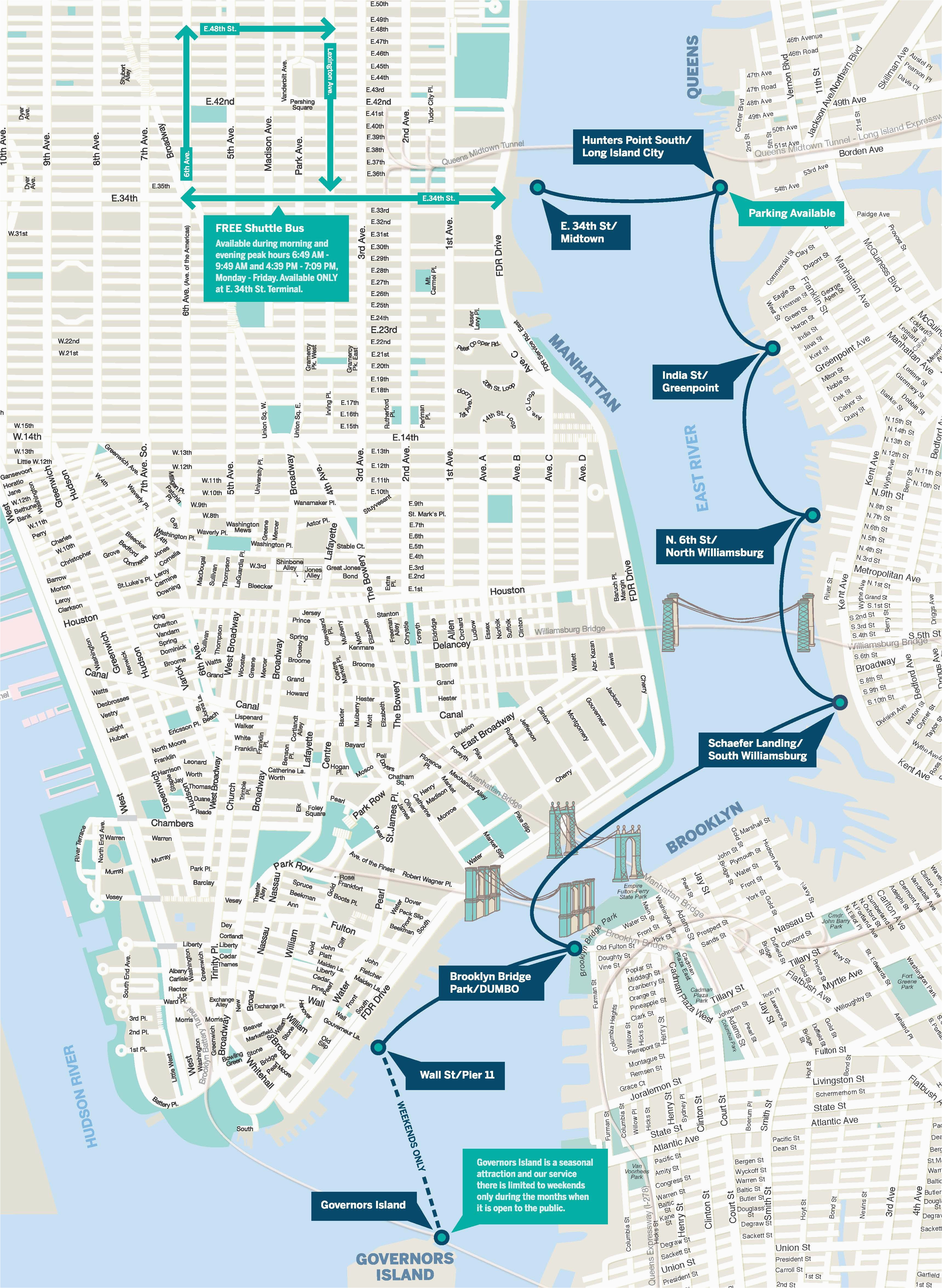 North Carolina Ferry System Map East River Ferry Route Map New York Trip Pinterest New York