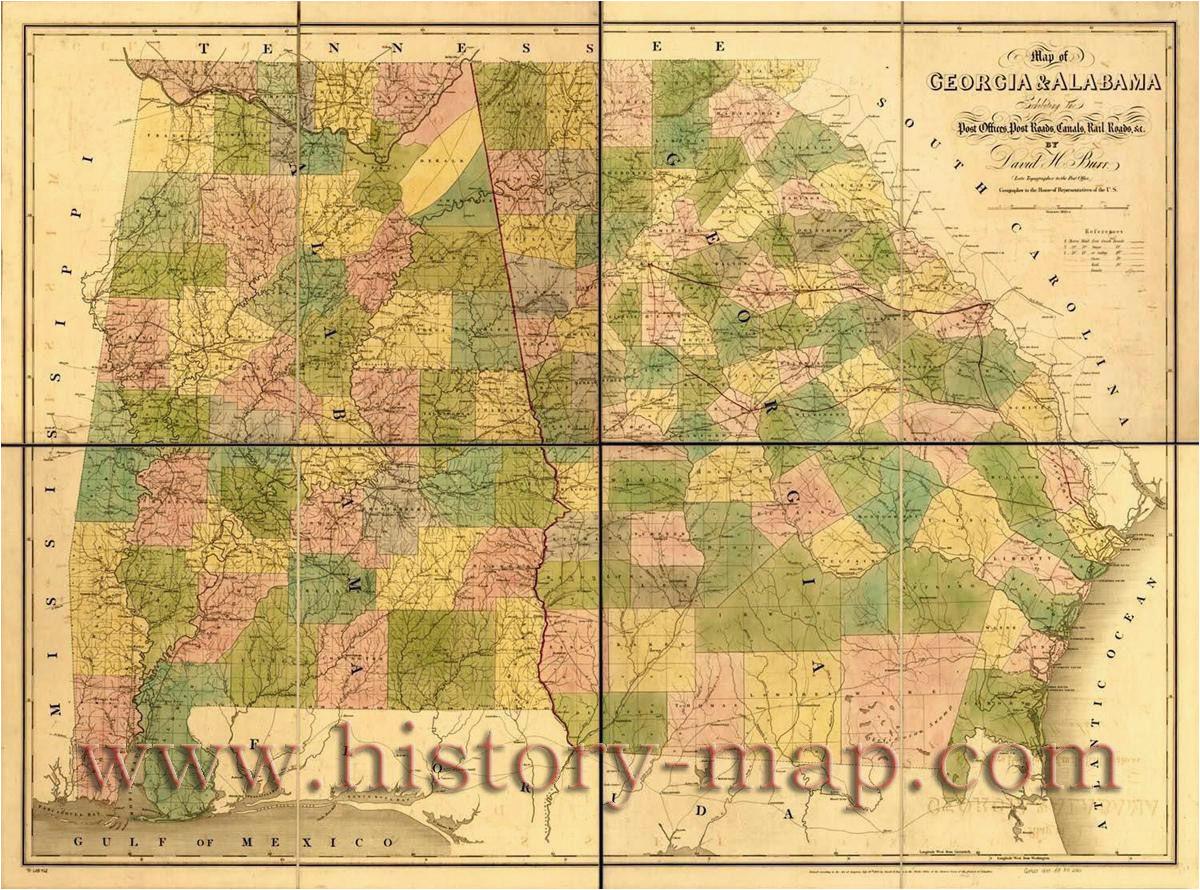 Old Map Of Georgia Old Map Of Georgia and Alabama Civil War Ga Pinterest Georgia