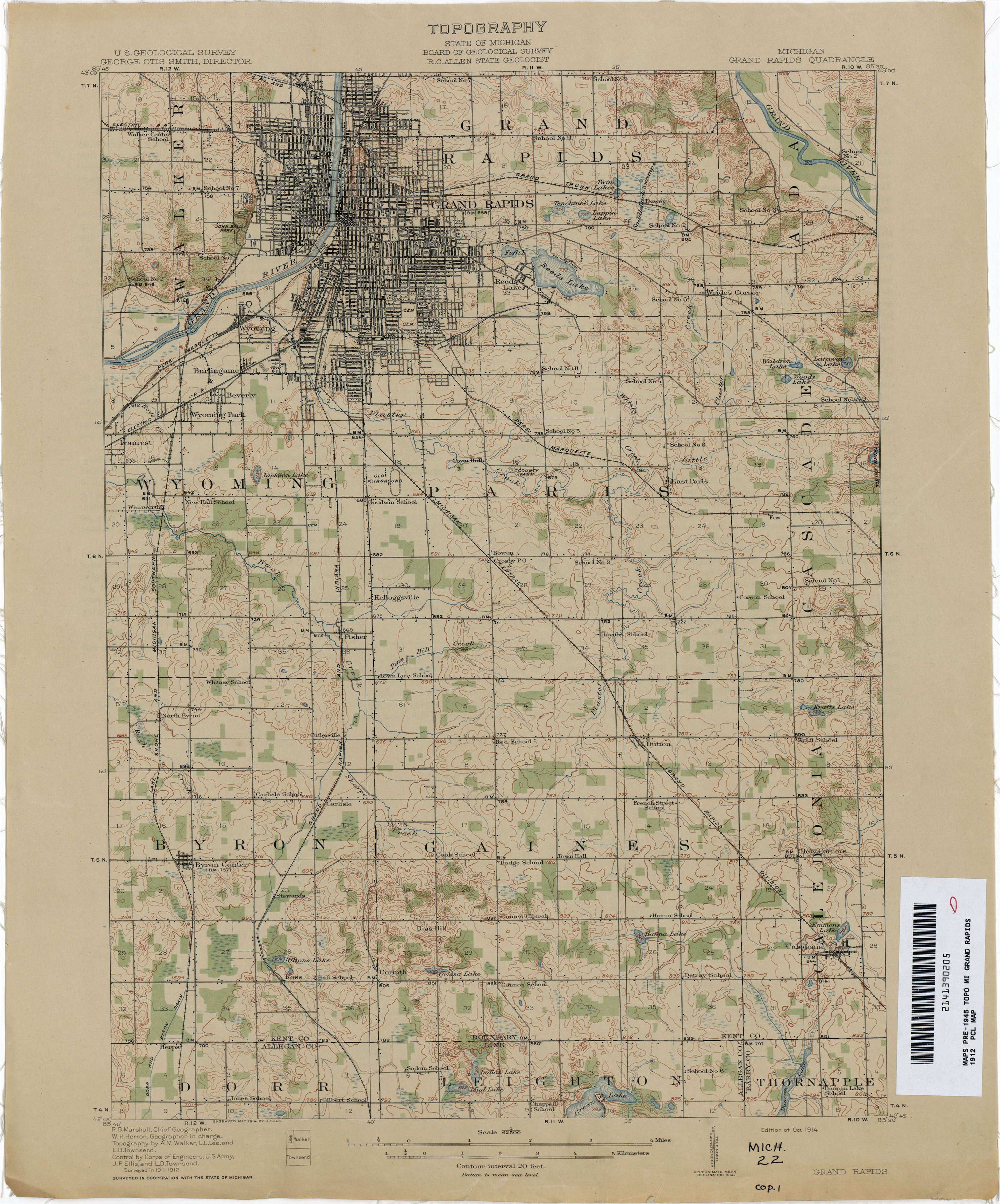 Old Maps Of Michigan Vintage Grand Rapids Map Vintage Michigan Pinterest Map