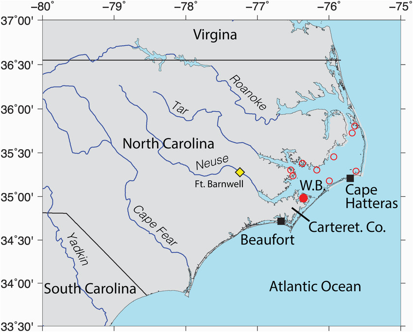 Oriental north Carolina Map Location Map Oyster Reserve Sites In Pamlico sound north Carolina