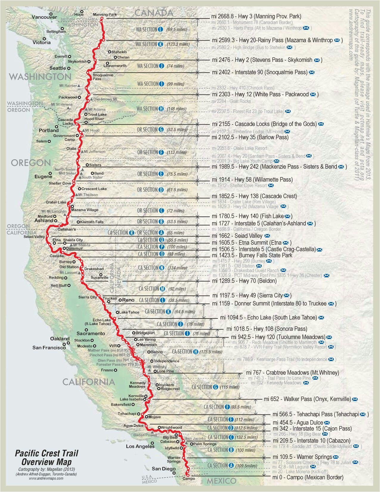 Pct Map California Pin by Matthew Paulson On Pacific Crest Trail Pinterest Hiking