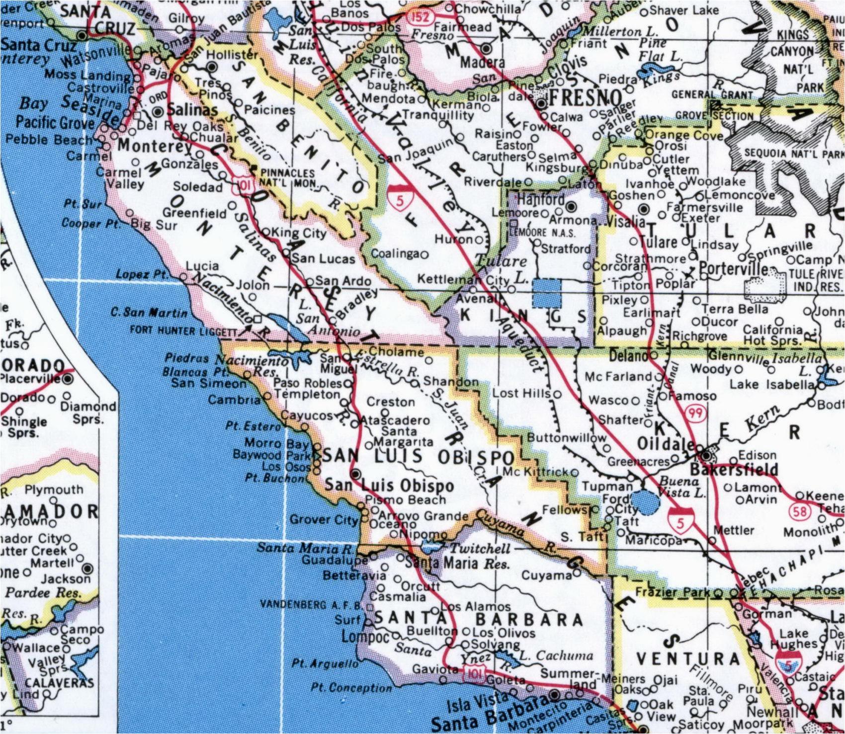 Pebble Beach Map California Map California Map Central California Coast California Map Perfect
