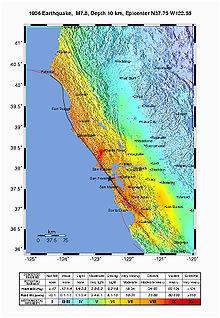 Quake Map California 1906 San Francisco Earthquake Wikipedia