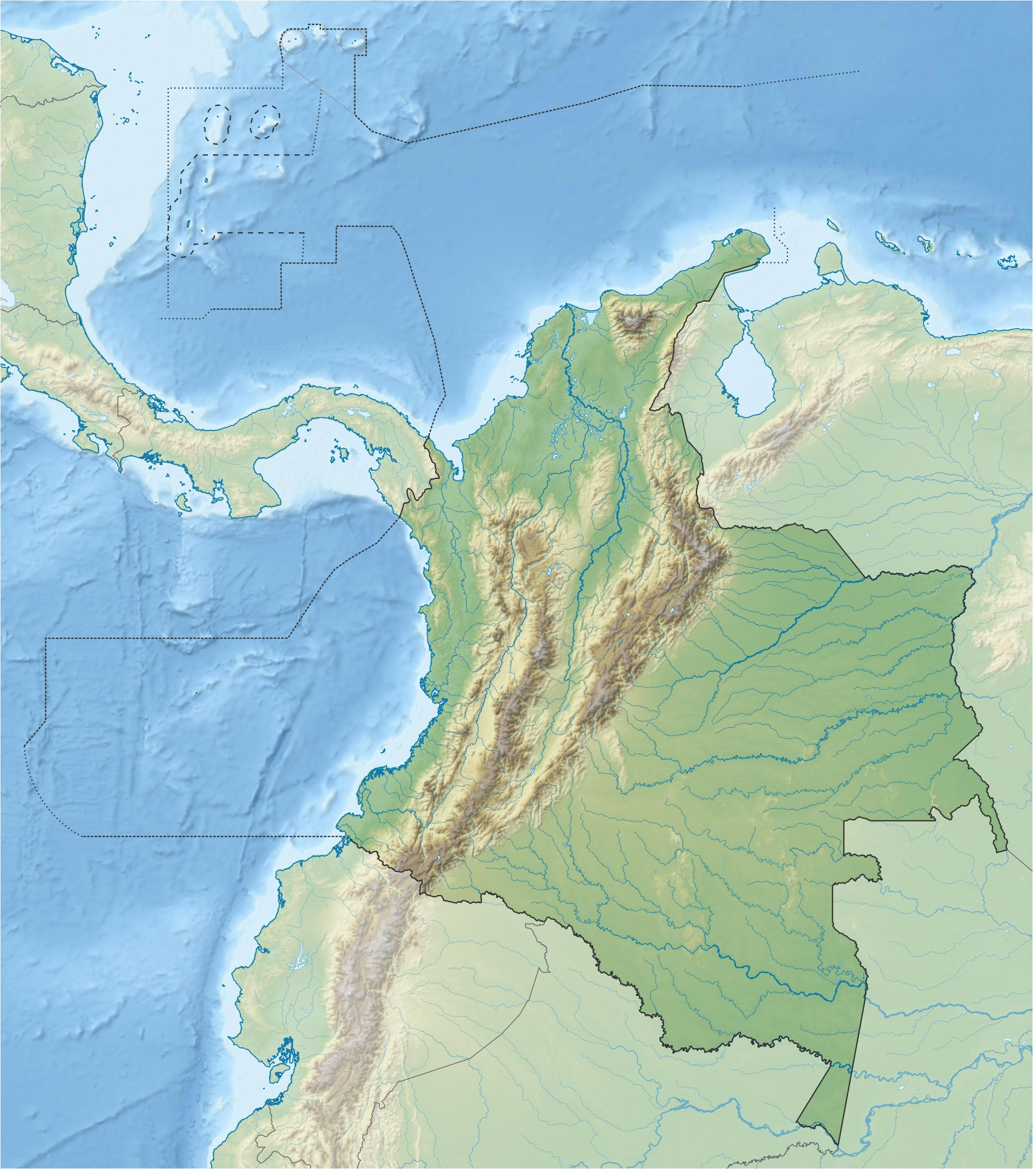 Relief Map Of Arizona File Colombia Relief Location Map Jpg Wikipedia